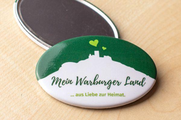 """Kühlschrank-Magnet """"Mein Warburgerland - ... aus Liebe zur Heimat."""""""