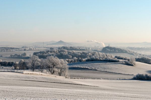 Desenberg mit Winterlandschaft