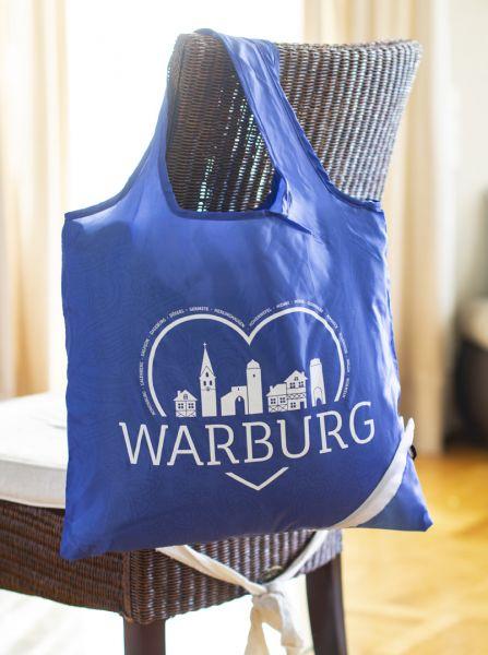 """Faltbare Tragetasche """"Ein Herz für das Warburger Land"""""""