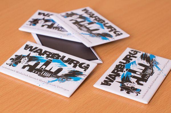 """Kühlschrank-Magnet """"Warburg - love it"""""""