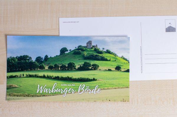 """Maxi-Postkarte mit Desenberg 06/18 """"Grüße aus der Warburger Börde"""""""