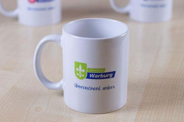 "Tasse mit Logo Touristik ""Hansestadt Warburg"""