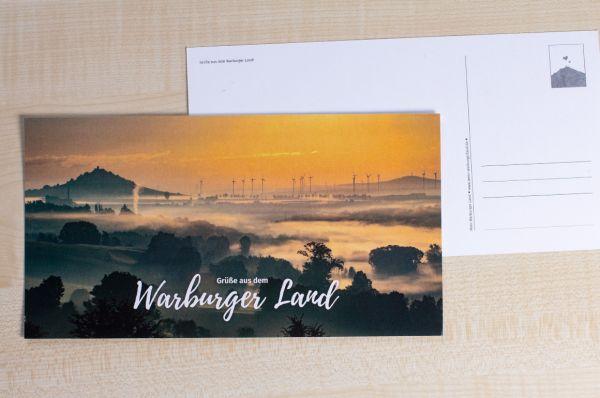 """Maxi-Postkarte Warburger Börde und Desenberg """"Grüße aus dem Warburger Land"""""""