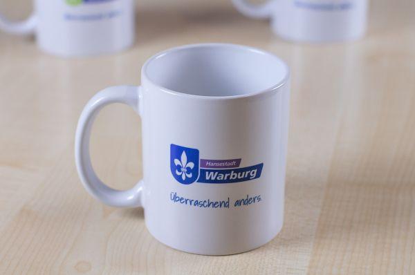 """Tasse mit Logo """"Hansestadt Warburg"""""""