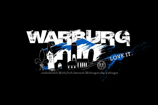 "Kapuzenpullover ""Warburg - love it!"""