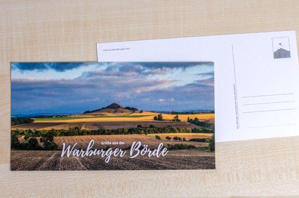 """Maxi-Postkarte mit Desenberg 08/18 """"Grüße aus der Warburger Börde"""""""