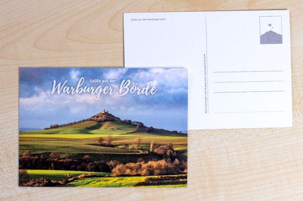 """Postkarte mit Desenberg 03/18 """"Grüße aus der Warburger Börde"""""""