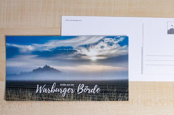"""Maxi-Postkarte mit Desenberg 11/18 """"Grüße aus der Warburger Börde"""""""